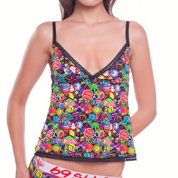 Dámské Tílko 69SLAM Lace Nighty Top Freedom Badge