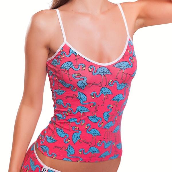 Dámské Tílko 69SLAM Top Bamboo Flamingo Coral S-Top L