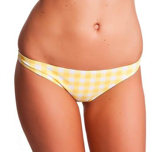 Dámské Plavky 69SLAM Kalhotky Cheeky Vichy Yellow