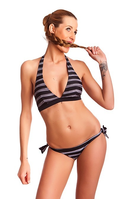 Dámské Plavky 69SLAM Kalhotky Reversible Stripes Black