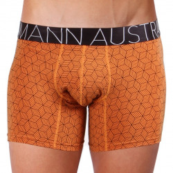 Pánské Boxerky Mosmann Australia Boxer Comfort Qube Orange Cube Print