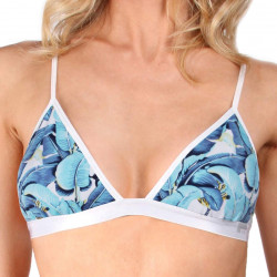 Dámská Podprsenka Mosmann Blue Congo Soft Cup Bra Blue Leaf Print