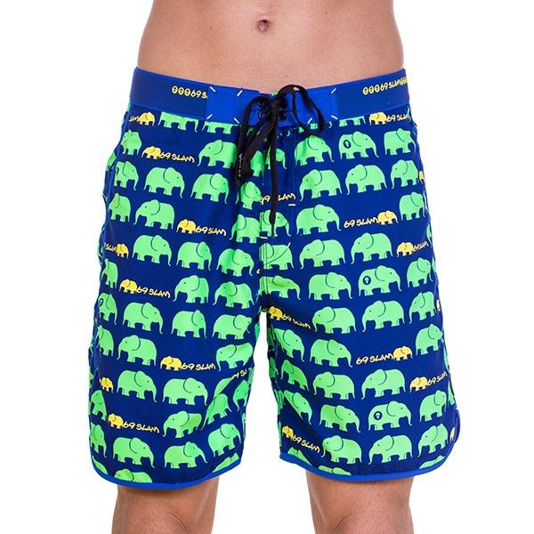 Pánské Plavky 69SLAM Krátké Boardshort Medium Elephant Green XL