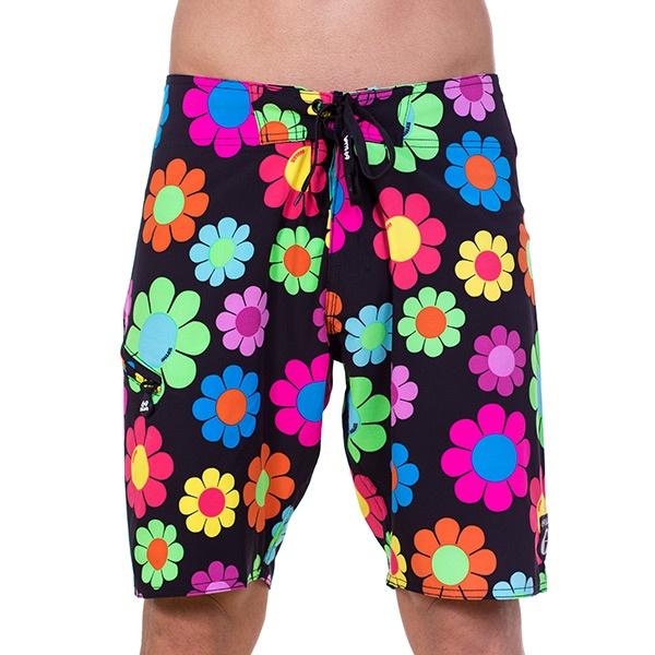 Pánské Plavky 69SLAM Krátké Boardshort Strech Funky Flower L