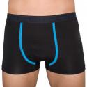 Pánské boxerky Stillo černé s modrým pruhem (STP-016)