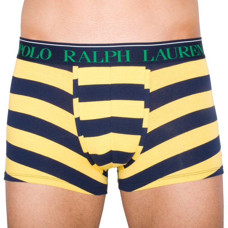 Pánské Boxerky Polo Ralph Lauren Blue Yellow Stripes