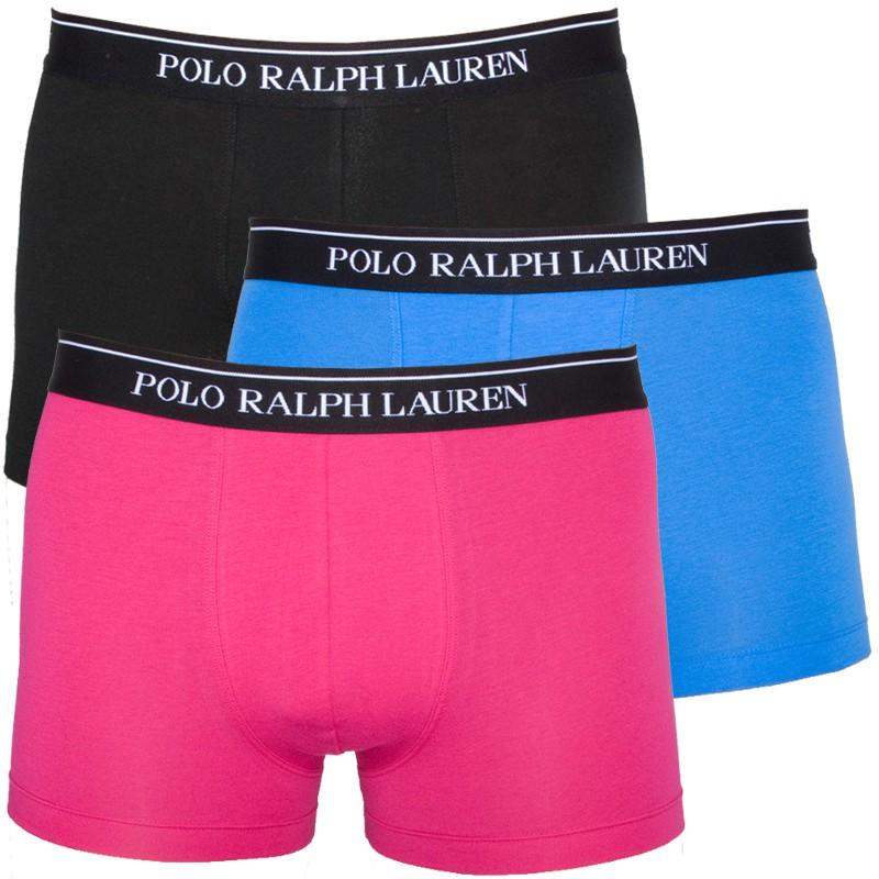 3PACK Pánské Boxerky Polo Ralph Lauren Pink Blue Black