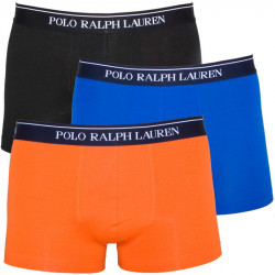 3PACK Pánské Boxerky Polo Ralph Lauren Orange Blue Black