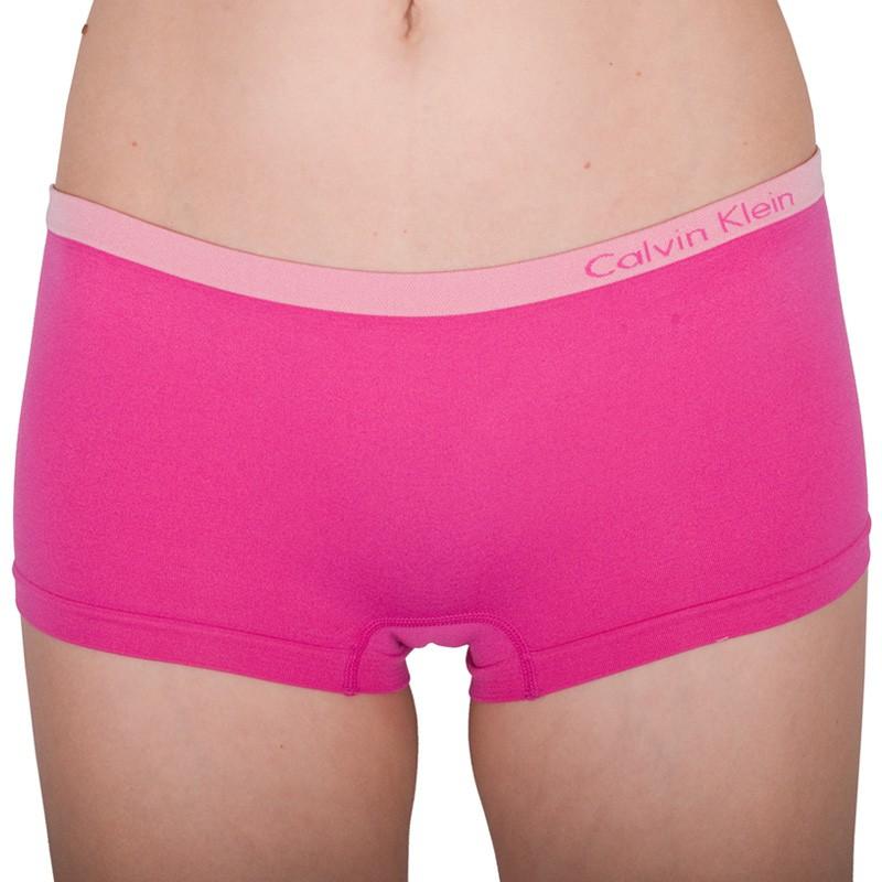 Dámské Bezešvé Kalhotky Calvin Klein Hipster Pink