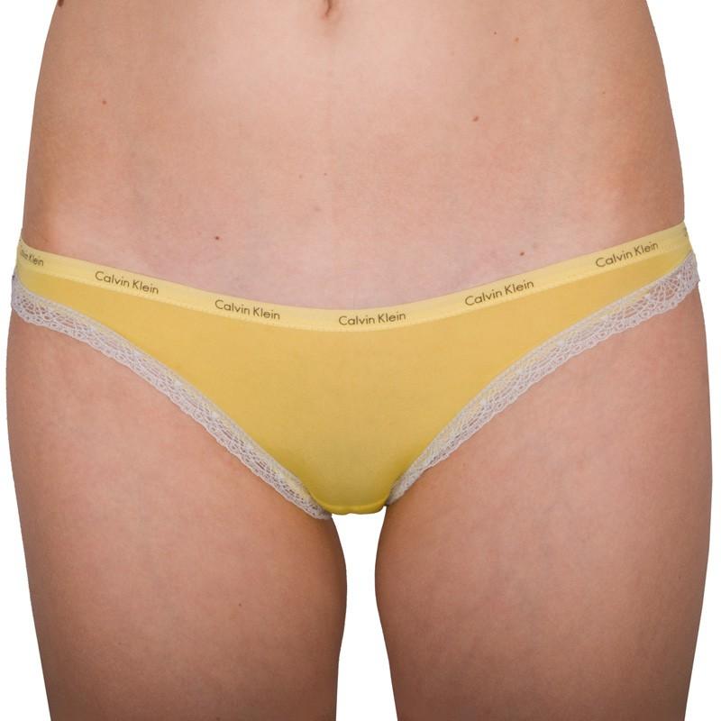 Dámské kalhotky Calvin Klein bikini žluté M