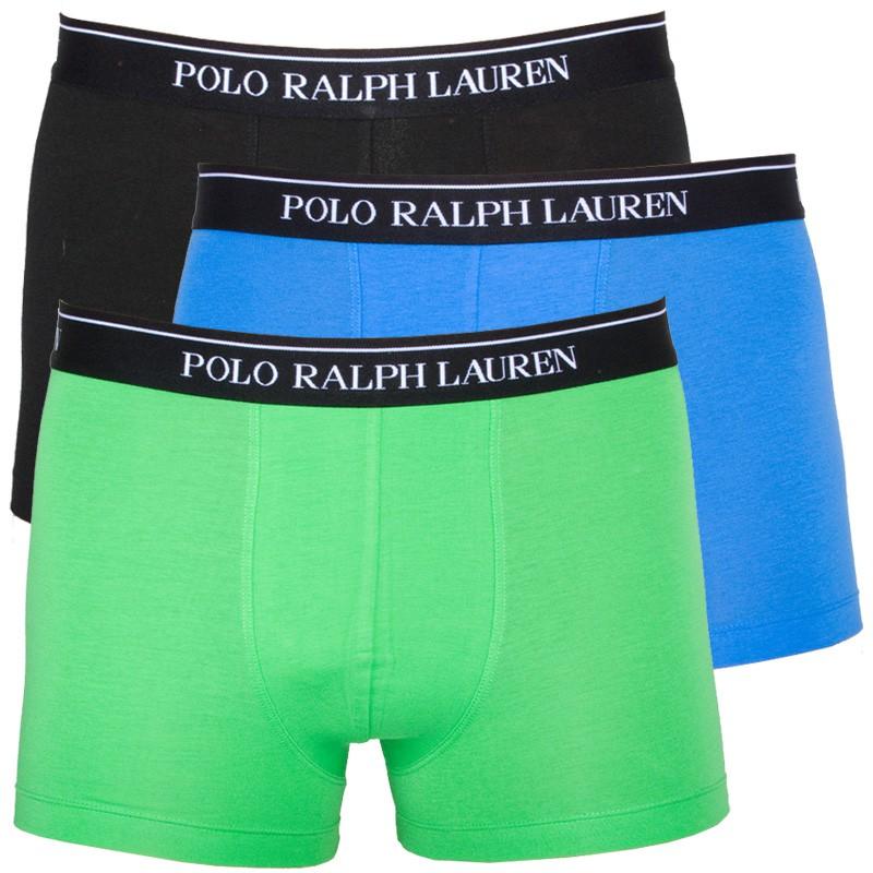 3PACK Pánské Boxerky Polo Ralph Lauren Green Black Blue