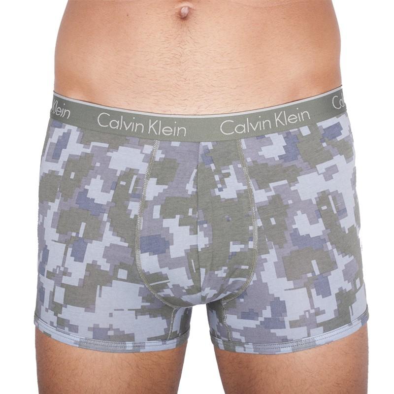 Pánské Boxerky Calvin Klein CK One Cotton Trunk Green Camo