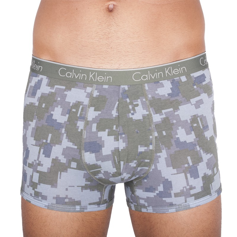 Pánské boxerky Calvin Klein CK One zelený maskáč