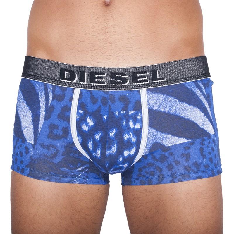 Pánské Boxerky Diesel Seasonal Edition Leopard Blue M