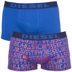 Pánské Boxerky Diesel Shawn Seasonal Edition Blue Red Words