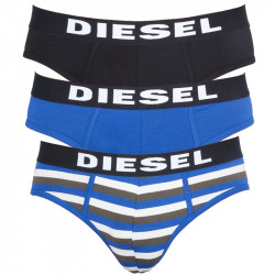 Pánské Slipy Diesel Seasonal Edition Black Blue Stripes
