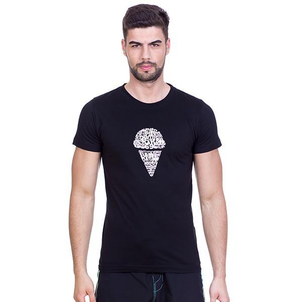 Pánské tričko 69SLAM Short Slam Ice Cream Writi Black L