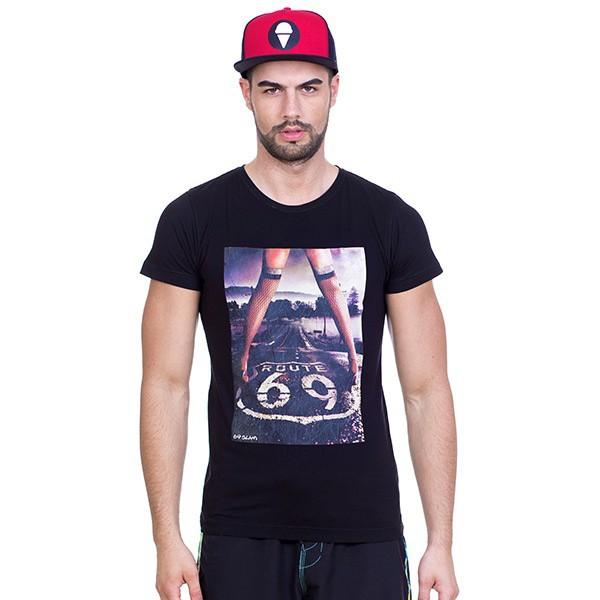 Pánské tričko 69SLAM Short Route 69 Black