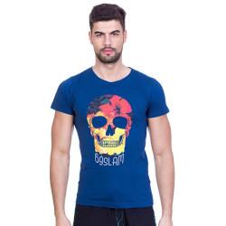 Pánské tričko 69SLAM Short Hibiscus Skull Blue