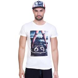 Pánské tričko 69SLAM Short Route 69 White