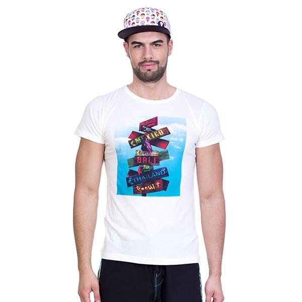 Pánské tričko 69SLAM Short Dream Places White L