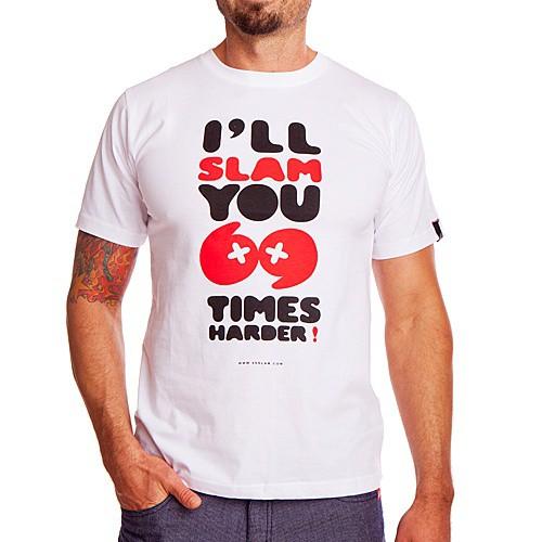 Pánské tričko 69SLAM Short Slam 69 White M