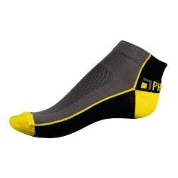 Unisex ponožky PHUSECKLE šedo/žluté půlené