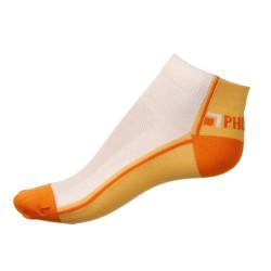 Dámské ponožky PHUSECKLE oranžovo/bílé půlené
