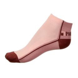 Dámské ponožky PHUSECKLE vínovo/řůžové půlené