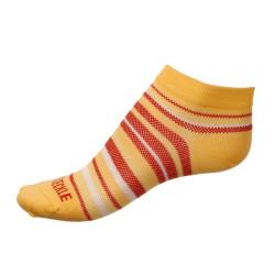 Dámské ponožky PHUSECKLE žluto/červené pruhované