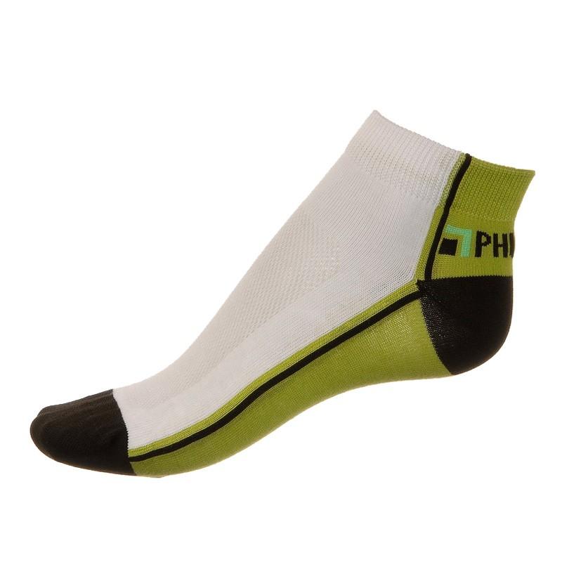 Ponožky Phuseckle summerline zeleno bílé