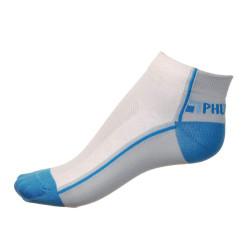Dámské ponožky PHUSECKLE modro/bílé půlené
