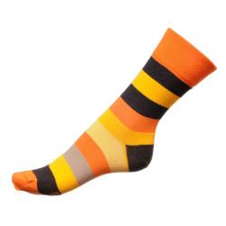 Dámské ponožky PHUSECKLE oranžové pruhy