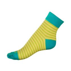 Dámské ponožky PHUSECKLE zelené pruhy