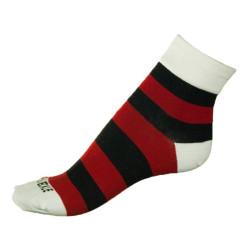 Dámské ponožky PHUSECKLE červené pruhy