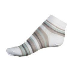 Dámské ponožky PHUSECKLE bílo/šedé pruhované