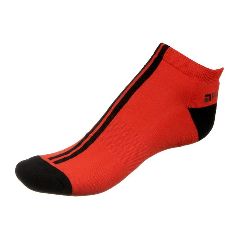 Dámské ponožky PHUSECKLE červeno / černé pruhy
