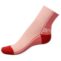 Dámské ponožky PHUSECKLE tm.růžovo/růžové půlené