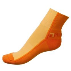 Dámské ponožky PHUSECKLE tm.oranžovo/oranžové půlené