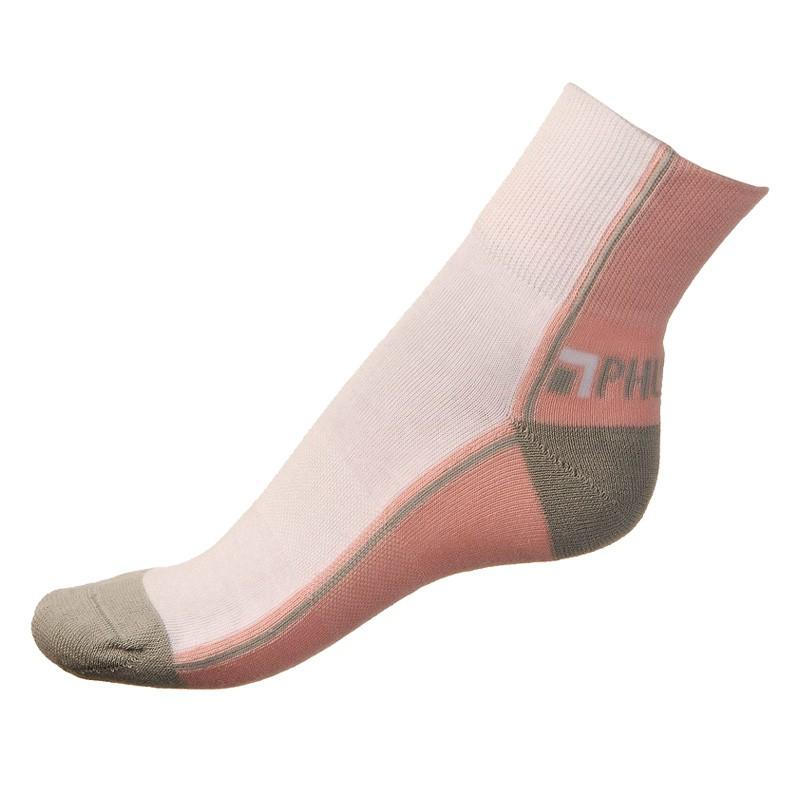 Dámské ponožky PHUSECKLE růžovo/bílé půlené