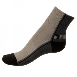 Unisex ponožky PHUSECKLE tm.šedo/šedé půlené