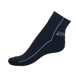 Unisex ponožky PHUSECKLE černo/černé půlené