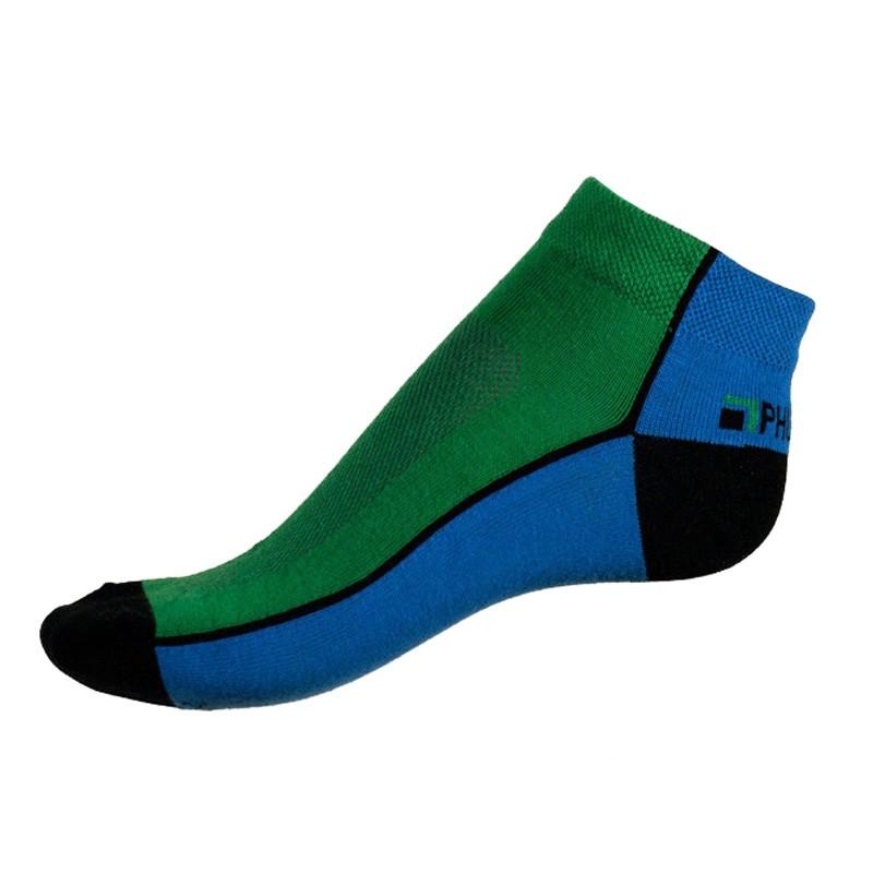 Pánské ponožky PHUSECKLE modro/zelené půlené