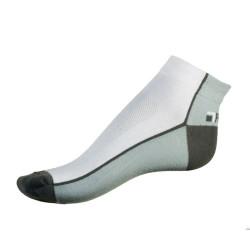 Pánské ponožky PHUSECKLE bílé/šedé půlené