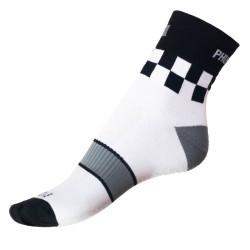 Pánské ponožky PHUSECKLE bílé/ kostky