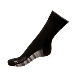 Ponožky Phuseckle classicline černé spodní pruhy