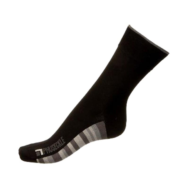 Ponožky Phuseckle classicline černé spodní pruhy M