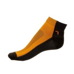 Ponožky Phuseckle Černé Oranžové Půlené
