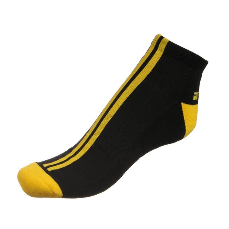 Pánské ponožky PHUSECKLE černé / žluté pruhy