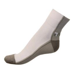 Pánské ponožky PHUSECKLE sv.šedo/bílé půlené